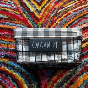 Rae Dunn Organize Large Basket NWT